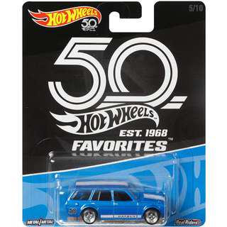 Hotwheels 2018 50th Anniversary Favourites Series '71 Datsun Blue Bird 510 Wagon Rare