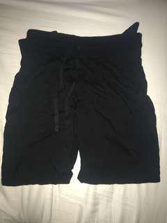 Black TNA thin jogger pants