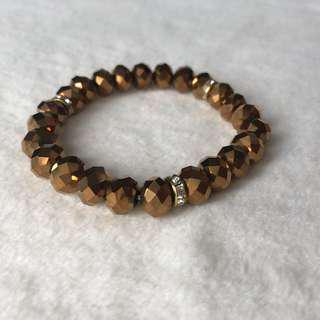 Metallic Brown Stretchable Bracelet