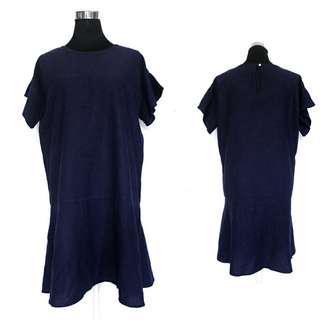 Navy Blue Flare Shift Dress