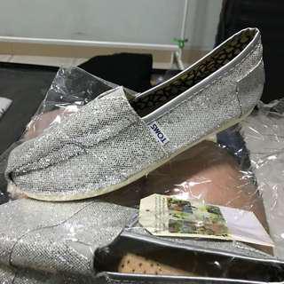 BN Silver Glitter Toms Look-alike