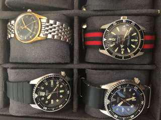 Mixture of watches vintage Manual and automatic