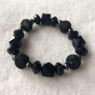 Black Stretchable Bracelet