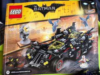 己砌 Lego 70917 bat mobile 浄車連一隻人仔