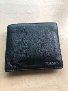 Prada wallet with coin compartment