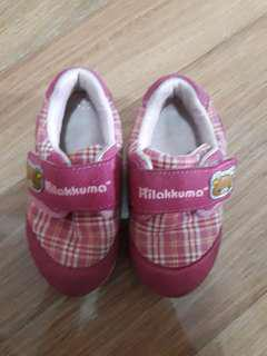 Pink rubber shoes for toddlers