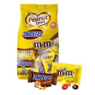 M&M's & 士力架花生巧克力綜合包1077.6公克