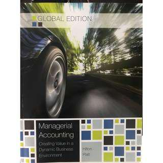 Managerial Accounting Global Edition