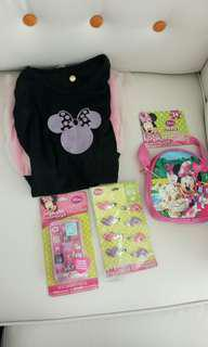 Minnie Mouse dress and accessories bundle