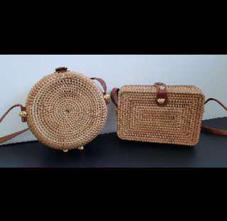 (INC POST) Bali rattan sling bag