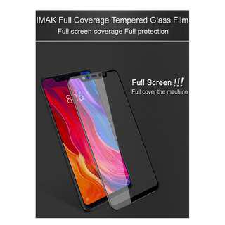 🚚 IMAK Full Cover Tempered Glass Screen Protector Xiaomi Mi 8