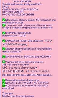 HOW TO ORDER, SHIPPING, FEES