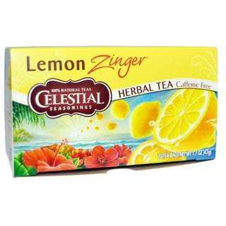 Celestial Seasonings, Herbal Tea, Caffeine Free, Lemon Zinger, 20 Tea Bags, 1.7 oz (47 g)