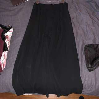 Shorts with Sheer Skirt/Cape