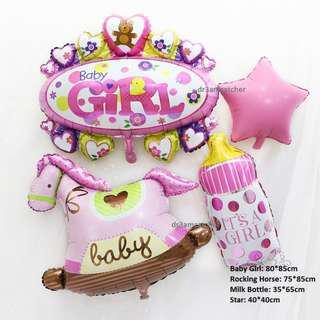 Huge Full Month Rocking Horse balloon set for girls