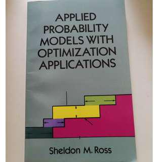 🚚 Applied Probability Models with Optimization Applications