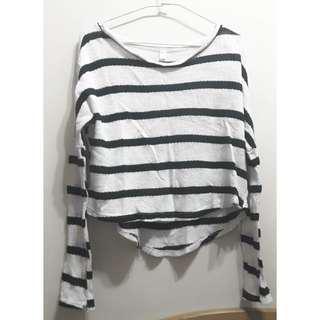 🚚 黑白條紋 針織上衣