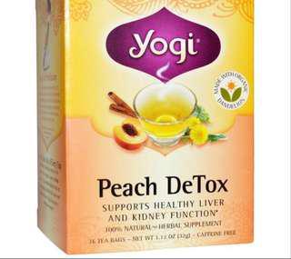 yogi Peach Detox .. Caffeine Free