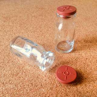 Empty Vial with Rubber Cap