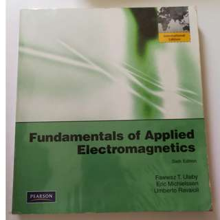🚚 Fundamentals of Applied Electromagnetics