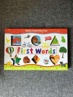 NEW! First Words set of 6 board books