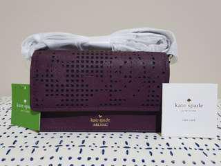 Kate Spade Cameryn Street Bag Perforated ARIELLE - Deep PeplumBNWT- GENUINE