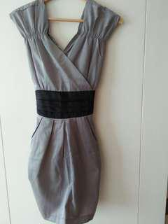 Party dress gray