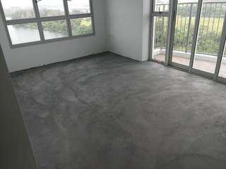 Cement screeding for vinly