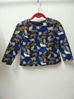 H&M Cats Blue Top #MidSep50