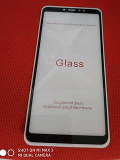 Mi Max 3 temper glass screen protector black rims