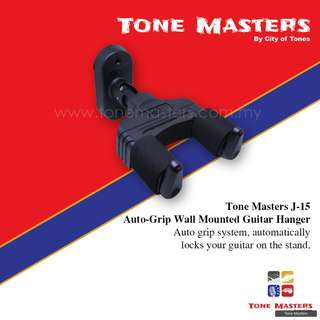 Tone Masters J-15 Auto-Grip Wall Mounted Guitar Hanger