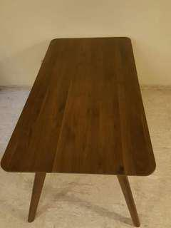 Solid wood commune dining table