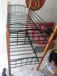 Bed double deck wooden post