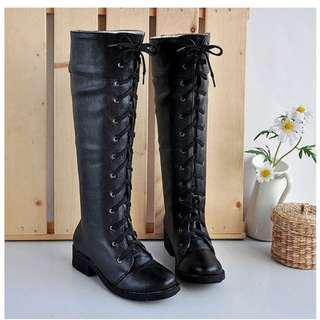 🚚 Cosplay Black Knee high Boots
