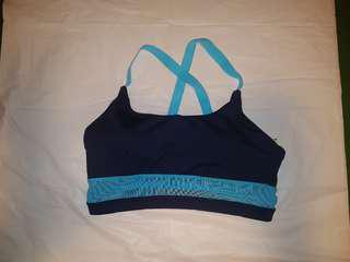 Navy Blue BNWOT Soft Sports Bra Large.