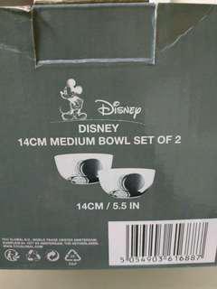 Disney medium bowl set of 2 100%new
