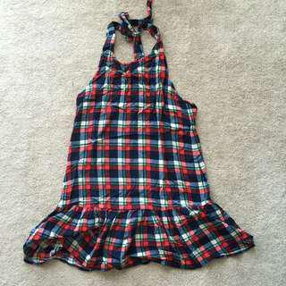 Zalora Ezra Red Checks Halter Dress