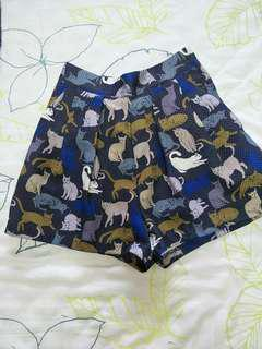 H&M Cats Blue Shorts #MidSep50