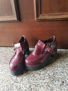 🚚 T-Bar Maryjane Platform Red Shoes