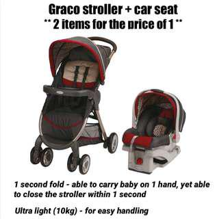 Graco stroller & car seat - 2 items for the price of 1