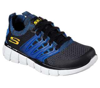 Sepatu Anak SKECHERS EQUALIZER 2.0 TURBOPULSE, Black Grey Royal. 97384LBGRY. 100% Originàĺ