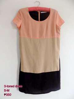 3-tone dress