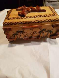 Handcrafted Cuban Wooden Jewelery Box