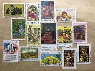 澳洲已銷郵票 聖誕節 (1966-1984年間, 14枚組)