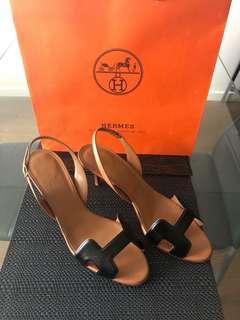 Authentic Hermes Oran Sandals W/Heels