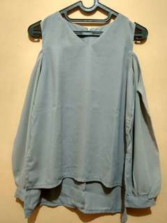 ALL ITEM 20k Cut shoulder top grey