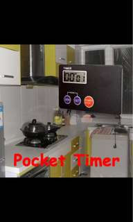 Digital Timer Countdown Pocket Kitchen Study Rest Kitchen Cooking ( Credit Card Size ) 1 PCS