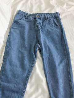 🚚 Highwaist Light Denim Jeans Pants