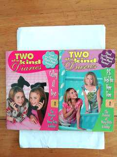 Two of a kind diaries first in a special three-part series and also third in a special three-part series children's books. The diaries of Mary-Kate & Ashley. Based on the TV series.
