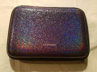 Purple glittery sephora unused makeup case